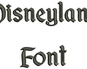 Disneyland Font A-Z and 0 -9 Embroidery Design Now Come with .BX Ready Font!