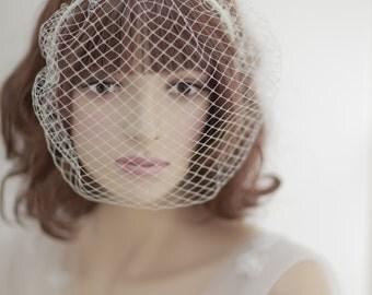Birdcage veil headband---v226