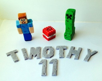 Minecraft Cake Toppers