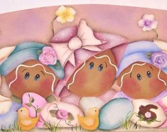 Gingerbread Easter Door Crown     Painting Pattern       instant download