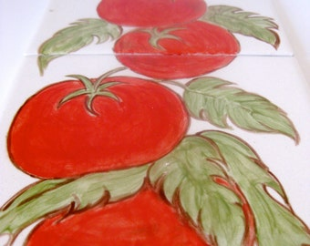 Tomato Hand Painted Ceramic Tile