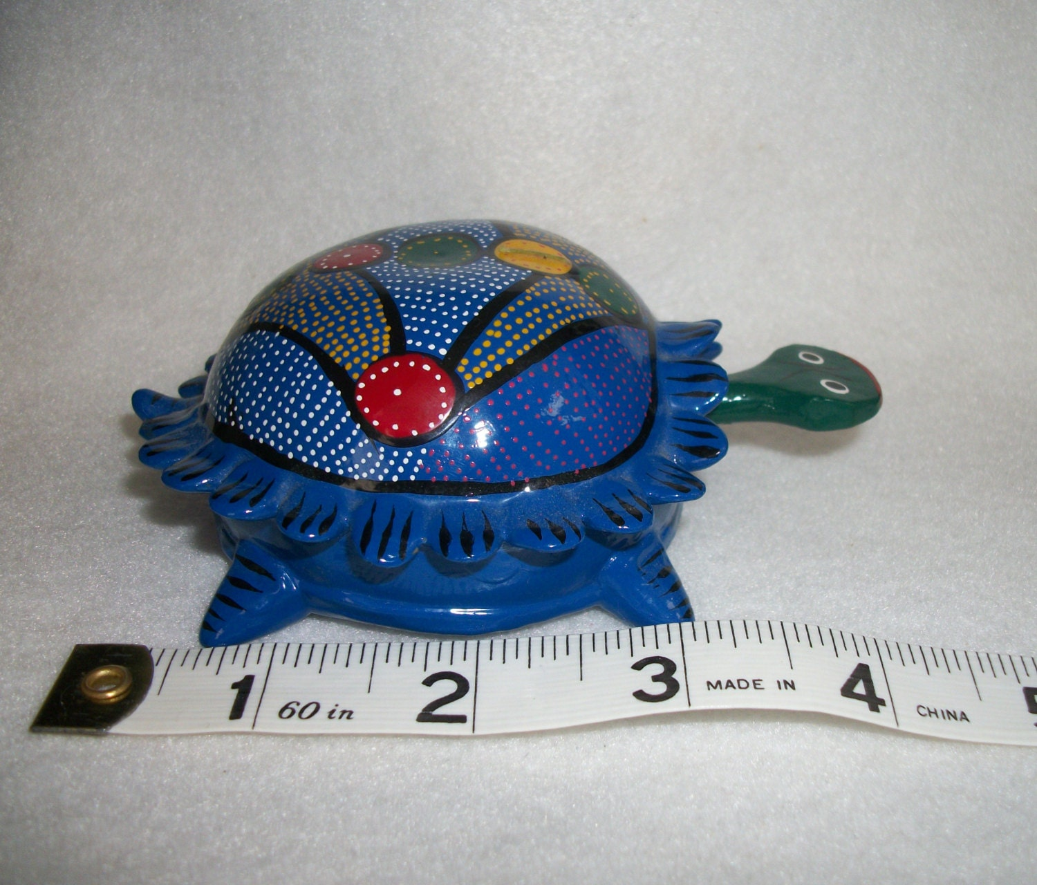Mexican Hand Painted Bobble Head Turtles