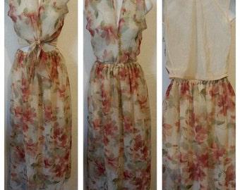 floral  maxi skirt set