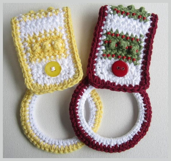 Crochet Beaded Kitchen Towel Holder Digital By