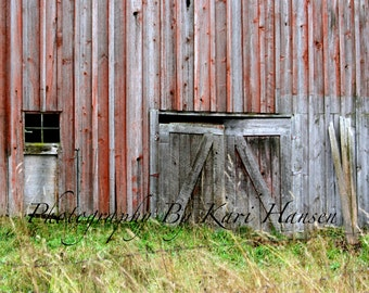 Rustic Red Barn Rural Farmland Granary Barn Fine Art Landscape Photography Wall Art