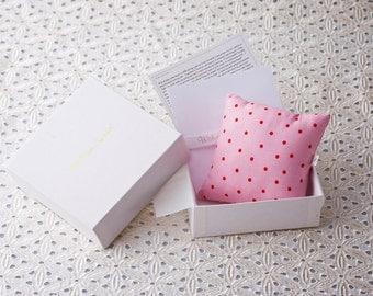 Polka Dot Pink Wish Pillow