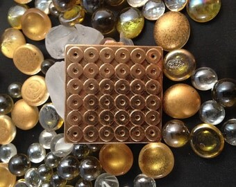 SIGNED 1940s Paul Flato Gold-plated Compact
