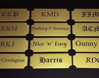 Personalized Nameplate, Engraved Brass Nameplate