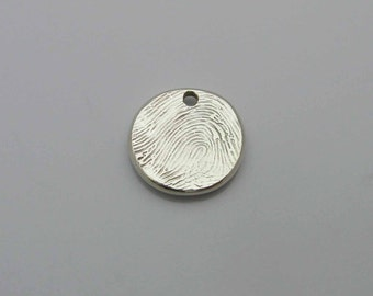 Fingerprint Jewelry, Silver Fingerprint Charm, Mommy Charm, Family Charm, Wedding Charm, Memorial Fingerprint, In Memory Of