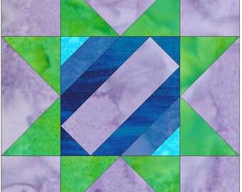Album Star 4 Paper Piece Foundation Quilting Block Pattern