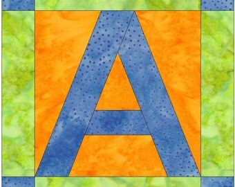 Letter A Paper Piece Foundation Quilting Block Pattern