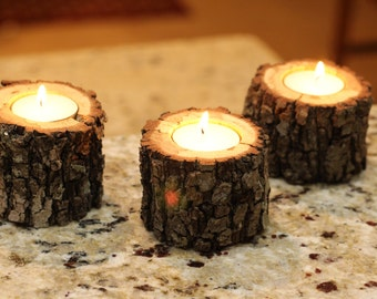 Tree Branch Tea Light Candle Holders