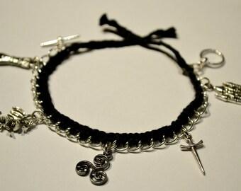 Merlin Inspired Braided Charm Bracelet