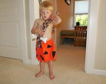 Handmade Bamm Bamm costume for baby or toddler, no hat