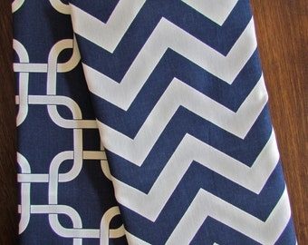 BLUE TEA TOWELS Set of 2 -Chevron Navy Blue Tea Towel Dark Blue Hand Towels Kitchen Wedding gifts Shower Decorative Tea Towels Housewares