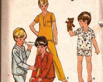 Vintage Boys Pajamas Sewing Pattern / Butterick 5737 / Size 6