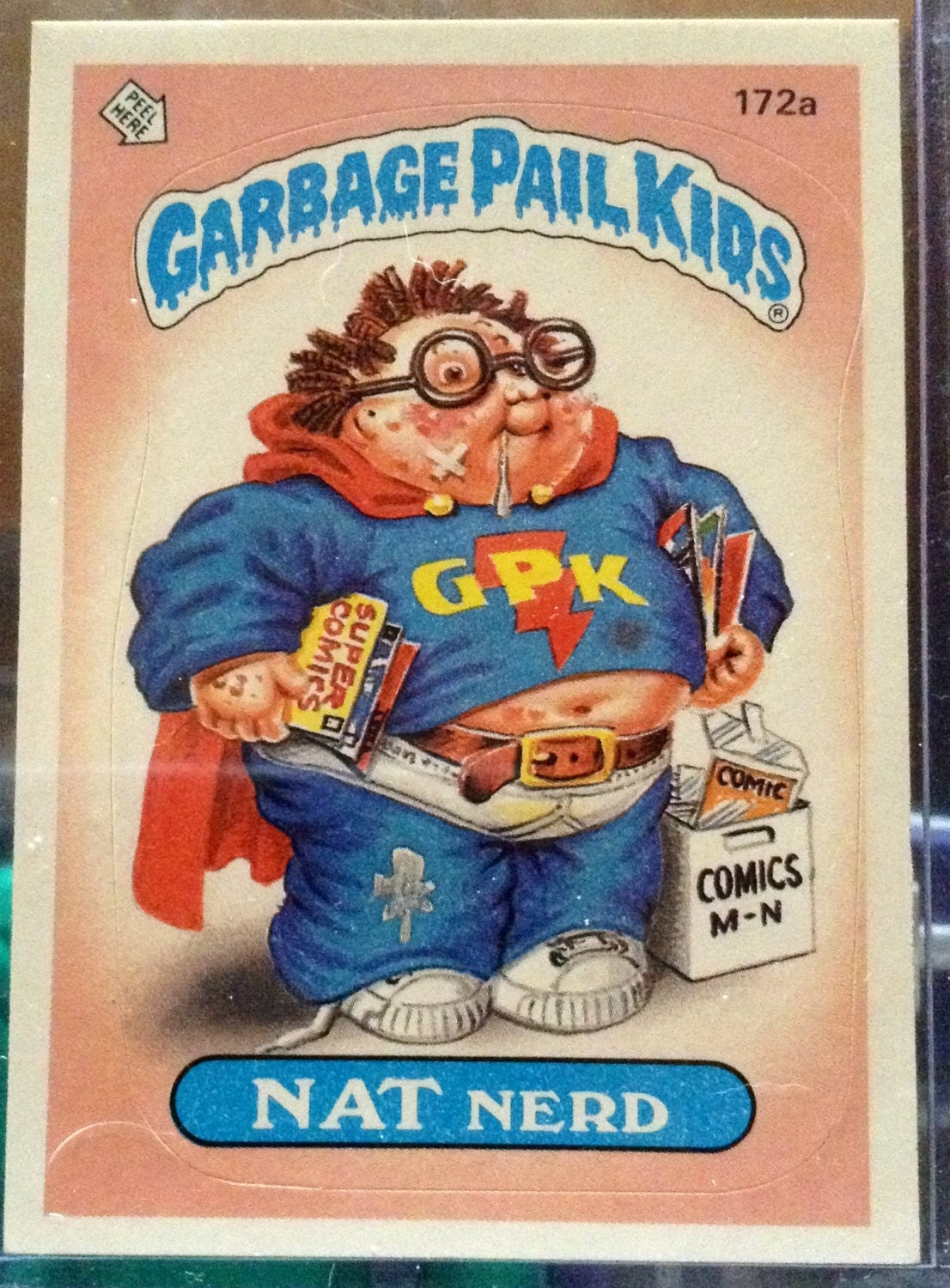 1986 Topps Garbage Pail Kids Trading Card 172a By