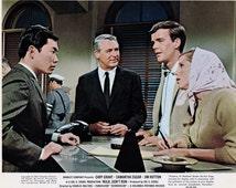 "Vintage Original Lobby Card Cary Grant, Samantha Eggar, Jim Hutton & George Takei - ""Walk Don't Run"" - c.1966 - Movies---FREE SHIPPING !!!"