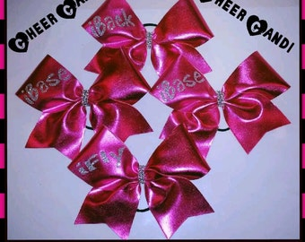"Set of 4 Stunt Group iFly, iBase, iBack 3"" Metallic Bows"