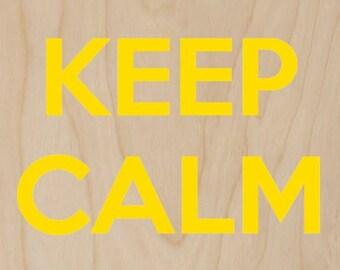 Keep Calm and Smile Yellow Banana - Plywood Wood Print Poster Wall Art WP - DF - 0421