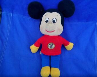 Vintage Mickey Mouse plush Knickerbocker 1976