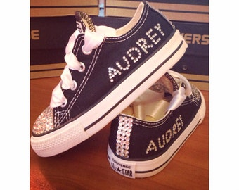 ADULT Personalized Bling Converse with Names