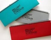 Weekly Planner Notebook [ Red, Blue, Gray ] / Academic Weekly Scheduler / 10777302