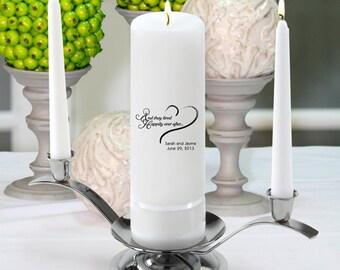 Personalized Wedding Unity Candle Set - GC330 HEA