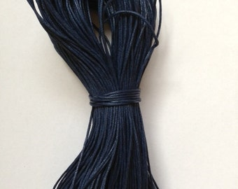 1mm Navy Blue Cotton Waxed Cord Size 1mm Length 100yds per bundle