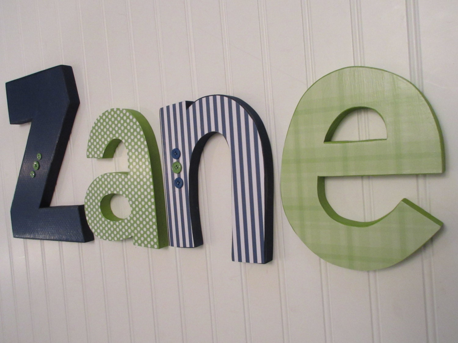 hanging nursery letters navy blue green nursery letters baby boy nursery letters nursery decor nursery wall letters