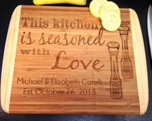 Personalized Seasoned with Love Cutting Board Cutting Board Personalized