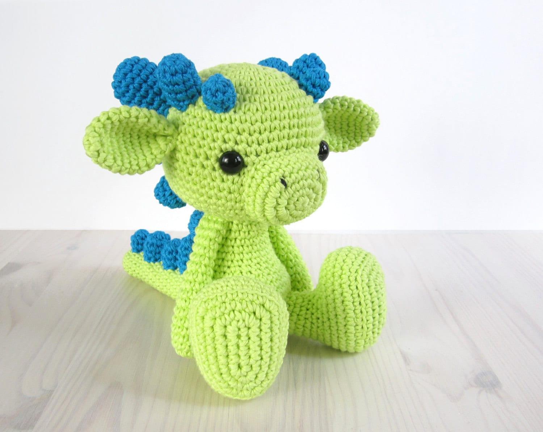 Baby Dragon Amigurumi Pattern : PATTERN: Sitting Baby Dragon Amigurumi Crochet pattern