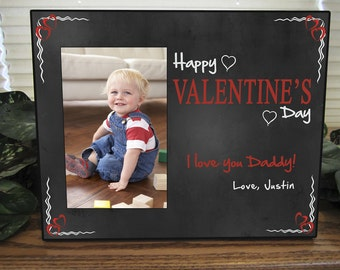 Personalized Valentine's Day Picture Frame for Dad