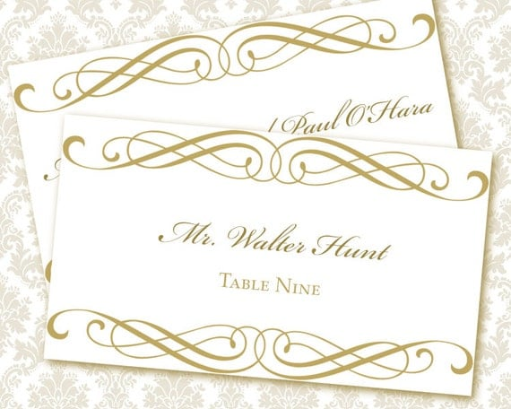 Unavailable listing on etsy for Templates for place cards for weddings