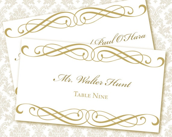 templates for place cards for weddings - unavailable listing on etsy