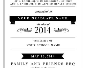 Simply Elegant Graduation Invitation