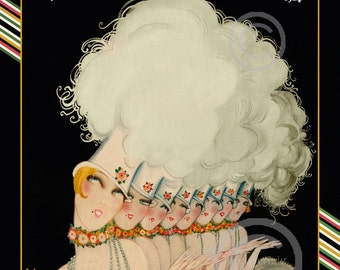 Art Deco Ziegfeld Follies Print, Theatre, Dancing Ladies, Puttin' on The Ritz , Stage,Tap,Cabaret, 1924, Giclee Fine Art Print, 11x14