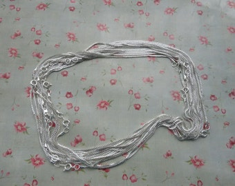 100pcs--1.5mm width--20 inches Shiny Silver Metal Link Necklace Chain--MN3103-100