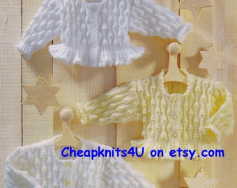 Jacket / Sweater in sizes from Newborn to 8 years old in  DK 8 ply yarn  -  PDF of a Vintage Style Knitting pattern - PDF Instant Download