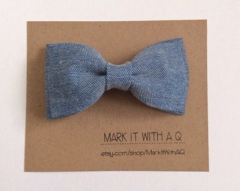 Really Light Chambray Bow tie