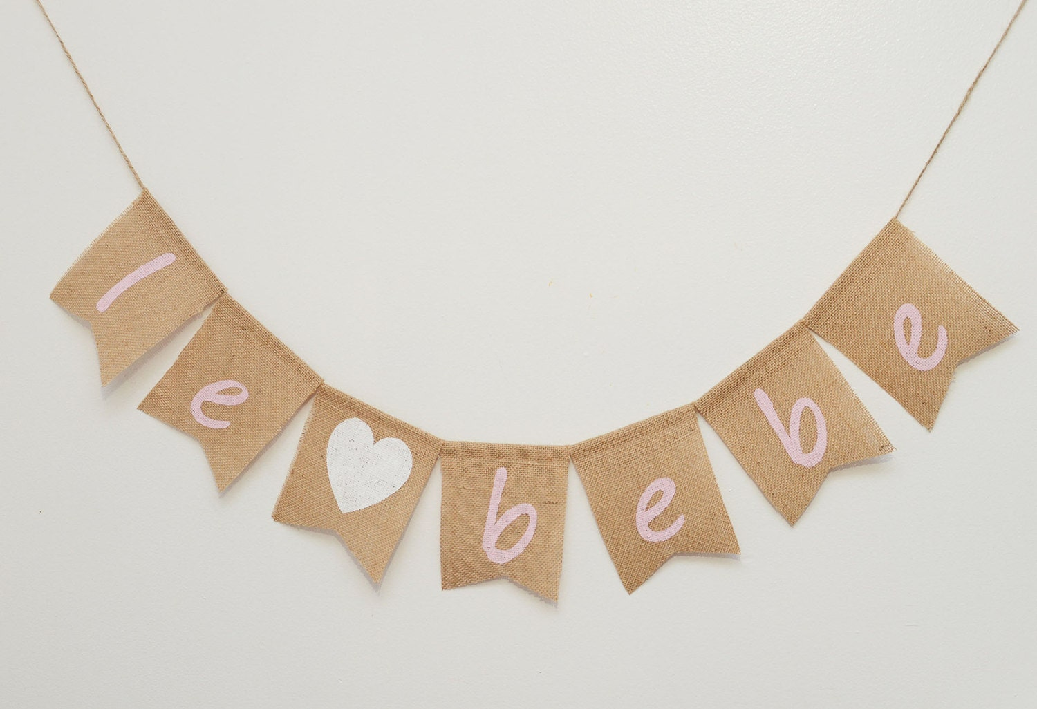 le bebe baby shower burlap banner baby party french baby