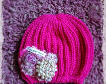 Whimsy Pink Slouchy Caitlin Beanie