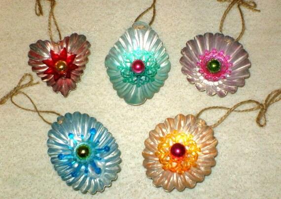 Vintage Tin Christmas Tree Ornaments : Vintage tart tin christmas tree ornaments by