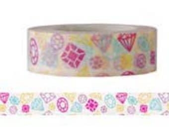 Sale ! Diamond Washi Tape  - Deco tape-- 15mm x8M