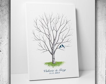 Wedding Guest Book Ideas Hand drawn Wedding Guest book Fingerprint Tree Guest book alternative Hand sketched wedding tree