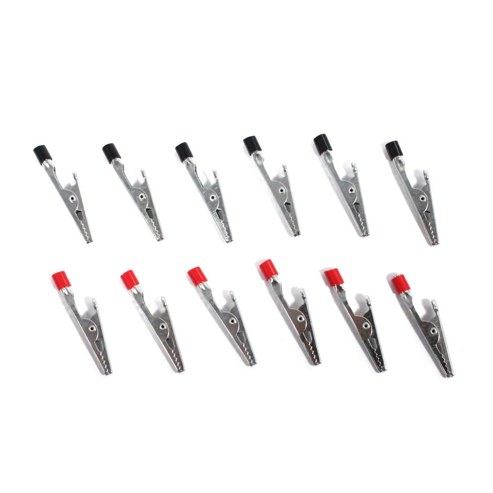 12pc mini 2 u0026quot  hobby alligator clip set from