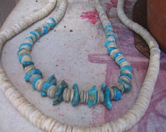turquoise nuggets  perfect color original pawn string