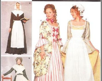 Simplicity 9746 Misses' Colonial Puritan Costume Pattern, 6-12