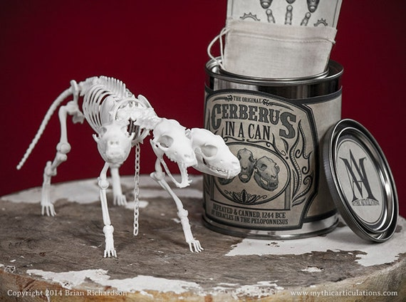 Cerberus in a Can 3D Print Taxidermy by MythicArticulations