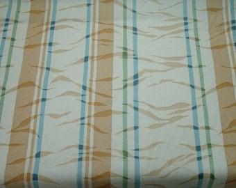 "54"" Drapery fabric  Stripe Apricot, Orange Sherbet, Teal, Sage Green"